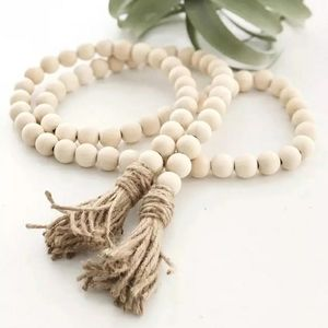 Wood Bead Garland 52 inches New